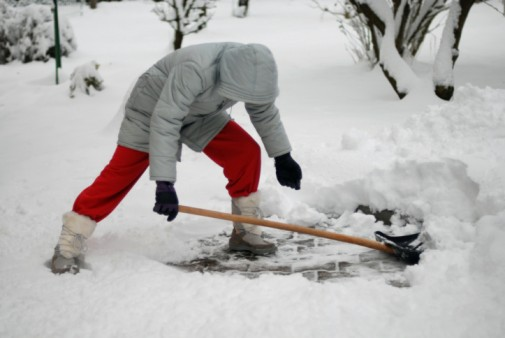 Shoveling snow can be risky for your health